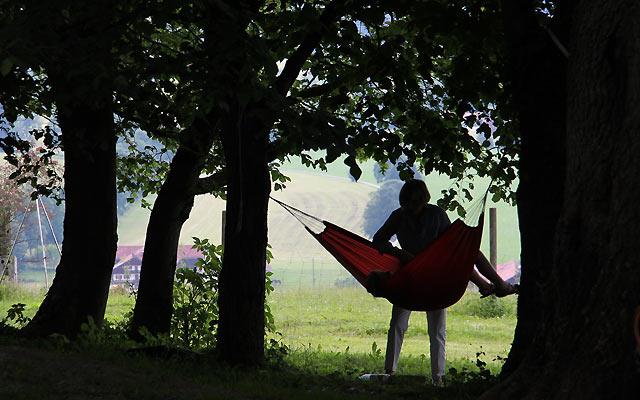 Relaxen unter Bäumen
